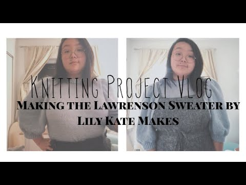 Knitting a Vintage Inspired Sweater in 5 days - Lawrenson Sweater Project Vlog and Tutorial