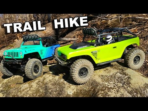 Axial Scx10 Deadbolt and Jeep Wrangler G6 Falken Trail Hike - TheRcSaylors