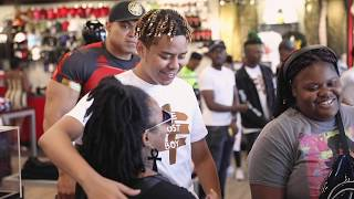 YBN Cordae gives Free Uniforms to Thurgood Marshall Middle School Video