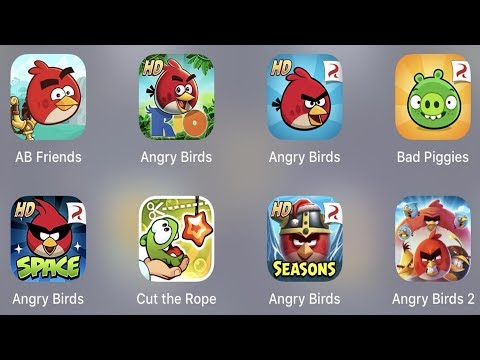 Angry Birds Friends,AB Rio,Angry Birds,Bad Piggies,AB Space,Cut The Rope,AB Season,Angry Birds 2