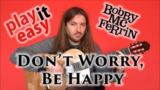 Don't Worry, Be Happy - Bobby McFerrin guitar cover with tabs with sheet music