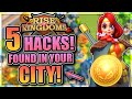 5 HACKS/TIPS found inside your city!  | Rise of Civilizations