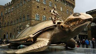 Флоренция Достопримечательности Флоренции Италия(Флоренция Достопримечательности Флоренции Италия Площадь Синьории, Флоренция.Гигантская бронзовая череп..., 2016-11-07T03:34:11.000Z)