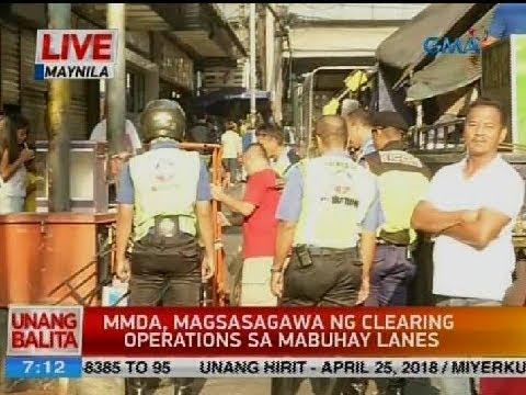 UB: MMDA, magsasagawa ng clearing operations sa Mabuhay lanes