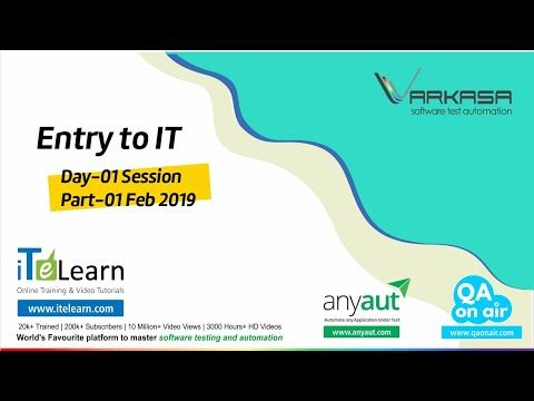 Entry to IT  Day-01 Session Part-01 - Feb 2019 thumbnail