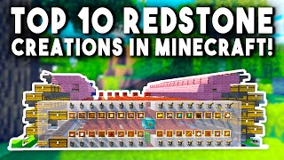 Top 10 Redstone Creations In Minecraft