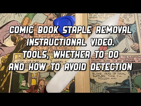 Comic Book Staple Removal Step by Step Instructions