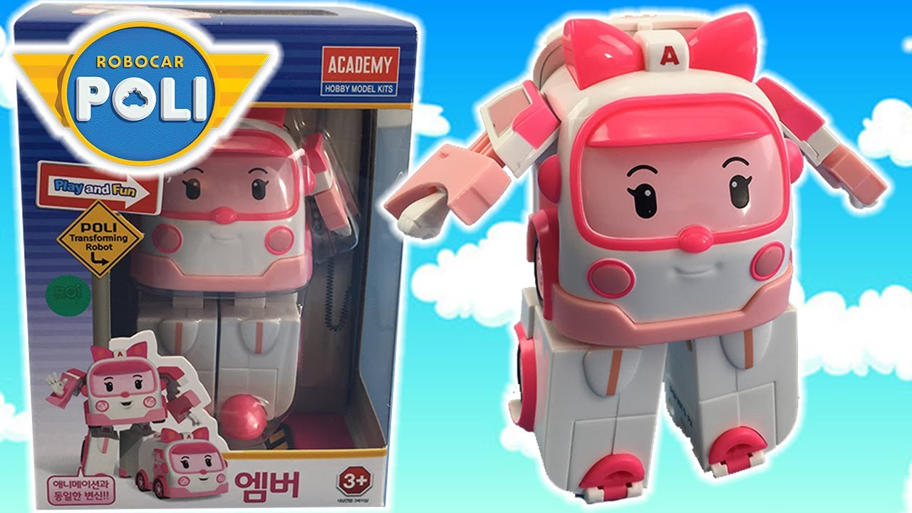 Toy unboxing robocar poli toys amber from robocar poli transformer toy toyshop toys for - Robocar poli ambre ...