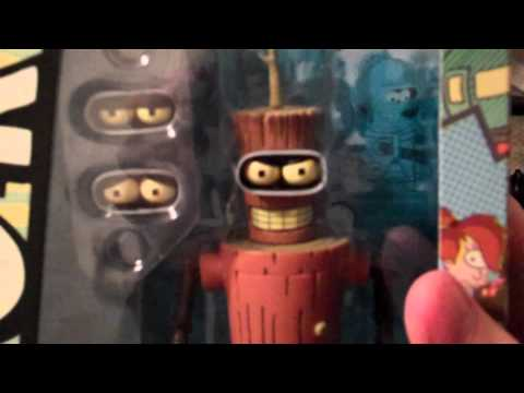 Futurama Wooden Bender and URL Figure Quick Looks by Toynami