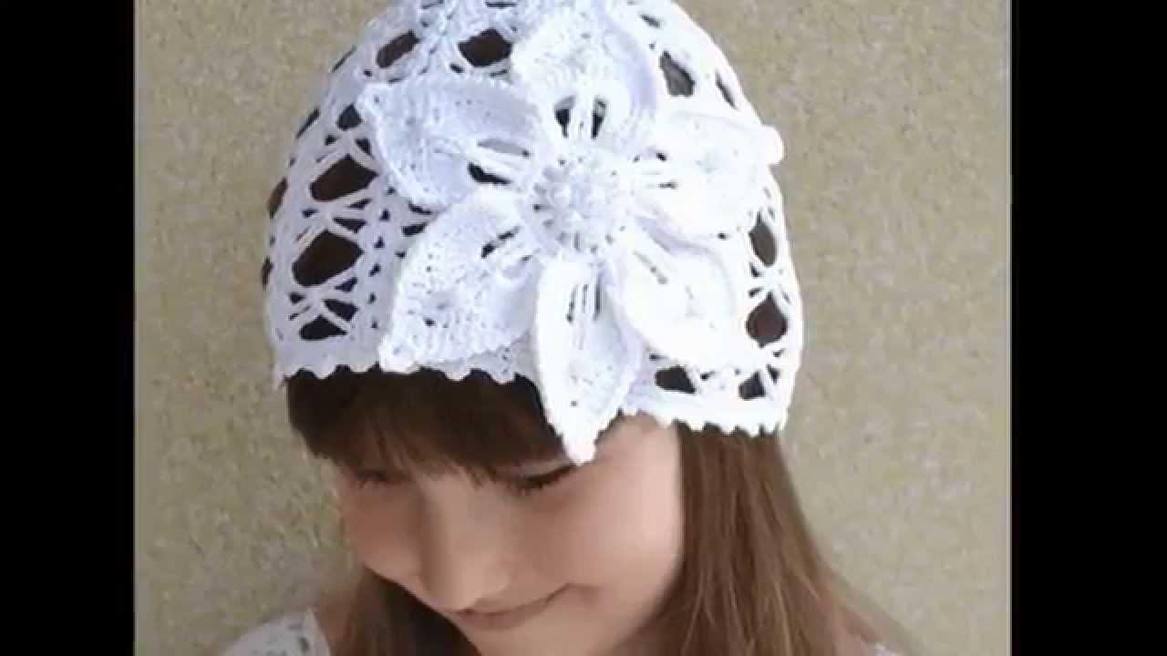 летние вязаные шапочки для детей Youtube