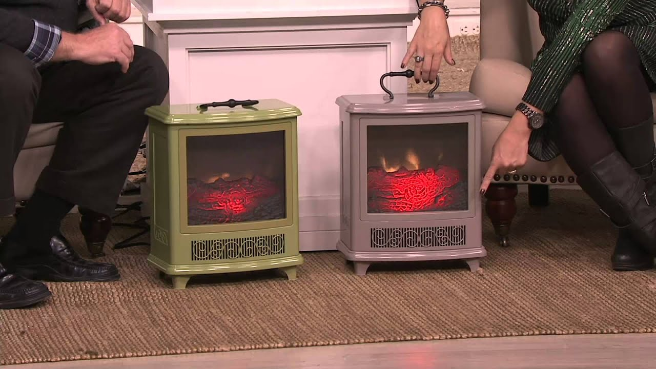 Duraflame Portable Stove Heater W Handle Amp Flame Effect On