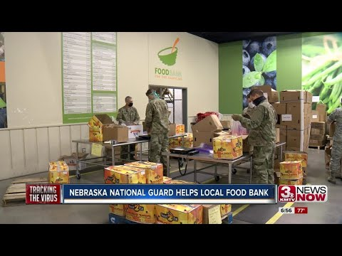 Nebraska National Guard helps local food bank