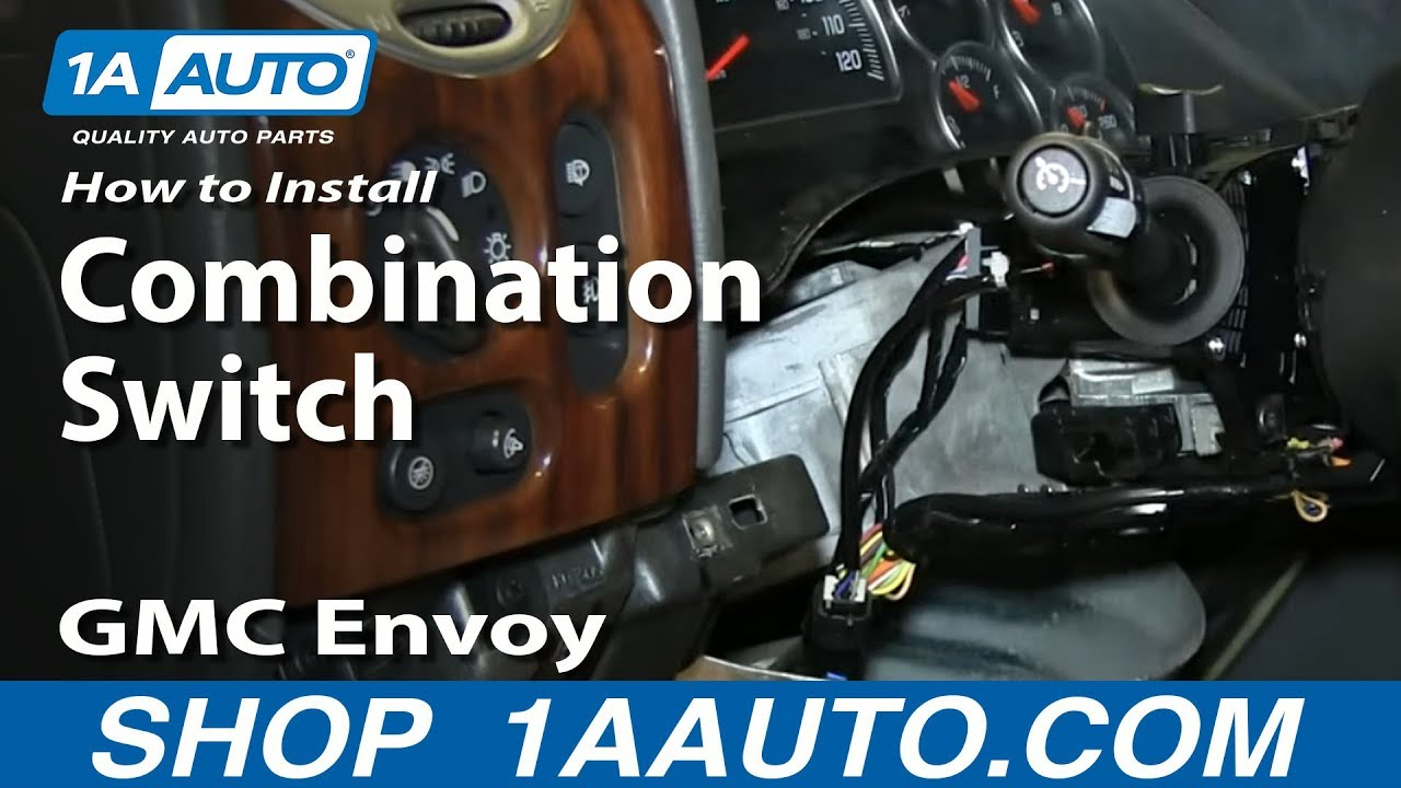 hight resolution of how to install turn signal wiper cruise control switch 2002 09 gmc envoy chevy trailblazer youtube