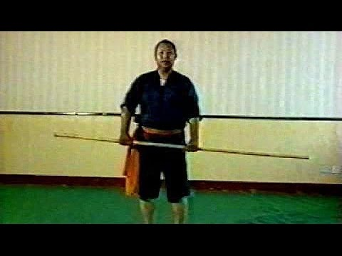 Shaolin kung fu staff basic moves