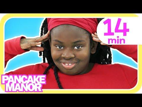 HEAD SHOULDERS KNEES & TOES + More Dance Songs for Kids | Pancake Manor