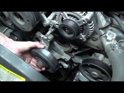 How to replace 37L waterpump, thermostat and coolant temp sensor