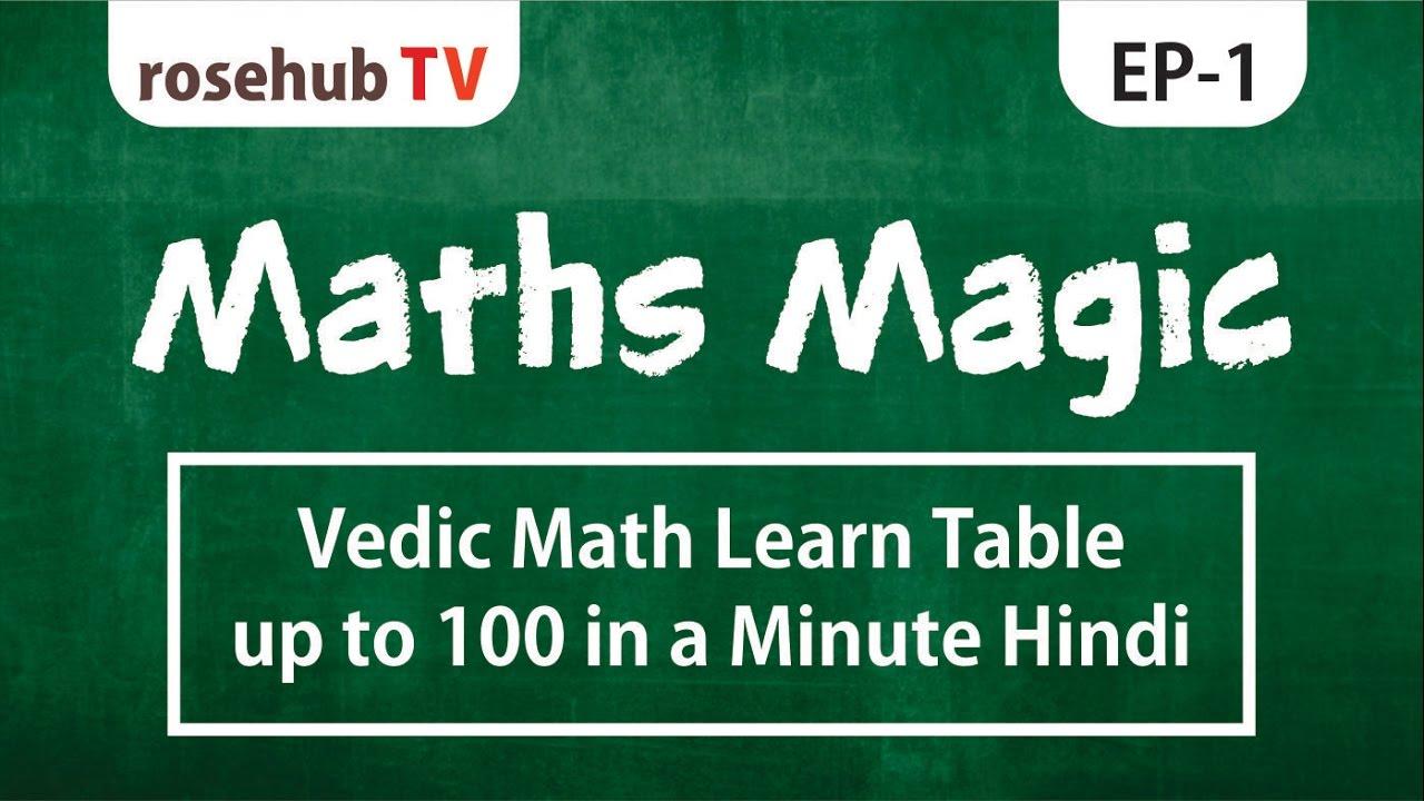 Vedic Math learn table up to 100 in a minute | याद करे 1 से 100 तक पहाड़े  बस एक मिनट में
