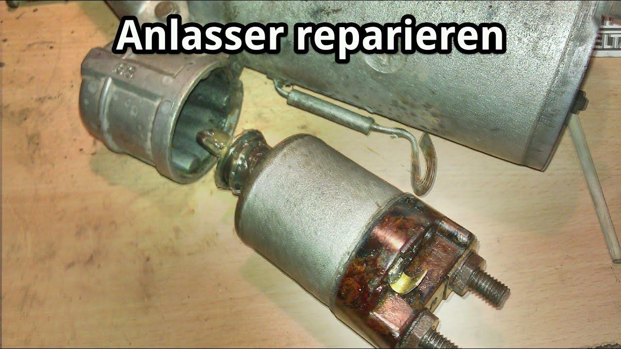 Anlasser reparieren - Magnetschalter-Kontakt aufarbeiten am Beispiel ...