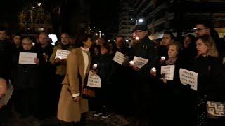 Homenaje en Pamplona a las víctimas de ETA con motivo del inicio de las Navidades