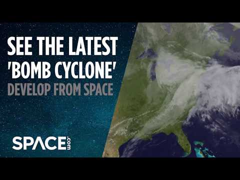 Watch Latest 'Bomb Cyclone' Form from Space
