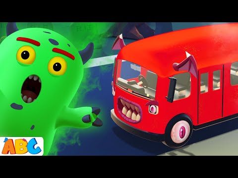 MONSTER Wheels On The Bus   Halloween Kids Songs By All Babies Channel