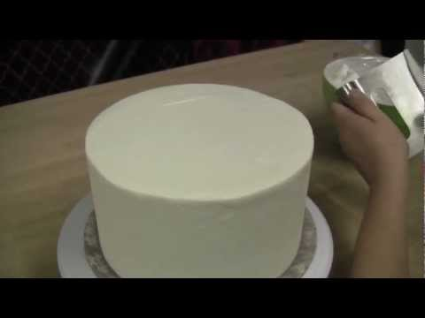 How To Ice A Cake With Straight Sides and Sharp Edges: The Krazy Kool Cakes Way