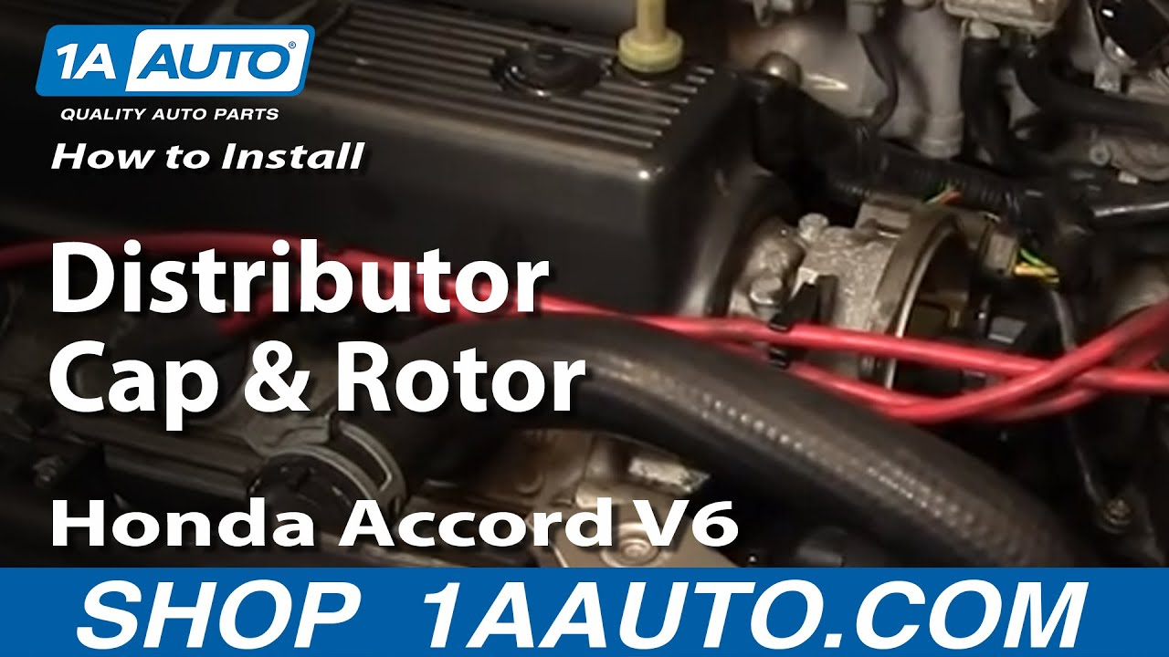 maxresdefault how to install replace distributor cap and rotor honda accord v6  at cos-gaming.co