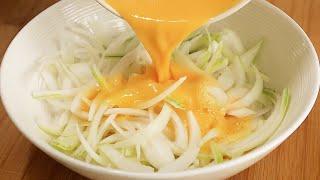 양파에 계란을 부으세요! 양파를 두배로 맛있게 먹는 색…