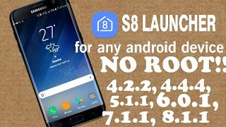Galaxy S8 LAUNCHER for all android devices.Link in description