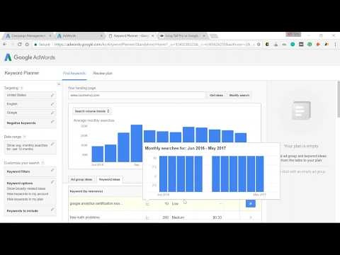 HACK Search Volume from Google Keyword Planner