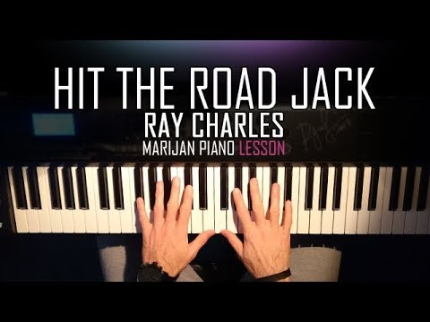 How To Play: Ray Charles - Hit The Road Jack | Piano Tutorial Lesson + Sheets