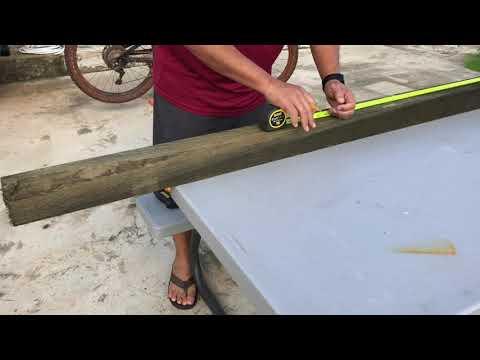 How to make a bike wash rack