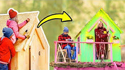 Welcome to our TREEHOUSE Easy DIY Project For Beginners with Pallets and Workshop Gadgets
