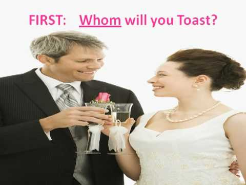 A Simple Wedding Toast, Speech or Introduction