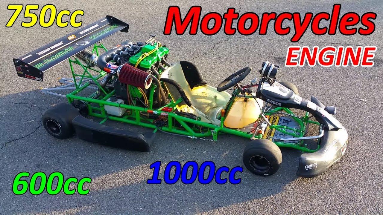 go kart with motorcycle engine youtube. Black Bedroom Furniture Sets. Home Design Ideas
