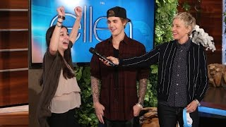 Justin Bieber and Ellen Play Humdinger