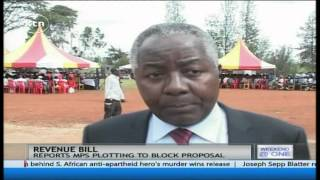 Kembi Gitura and Irungu Kang'ata urge MPs to support proposal to increase in revenue allocation