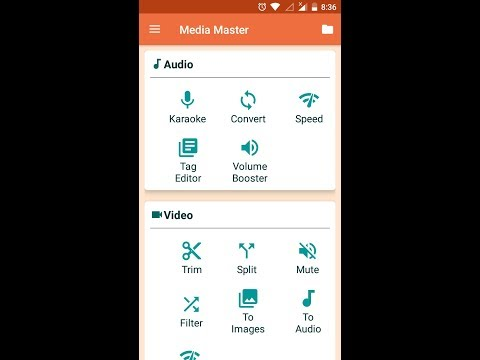 Media Master | Best Audio Video Editor App of 2018, free and no ads.
