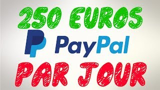 GAGNEZ 250€ PAYPAL PAR JOUR GRATUITEMENT ET FACILEMENT EN 2019 + PREUVES !!!