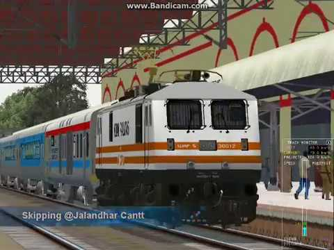 New Delhi Amritsar Swarn Shatabdi Express at Phagwara/Jalandhar Cantt in Indian Train Simulator