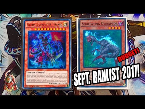 *YUGIOH* BEST! PURE DINOSAUR DECK PROFILE! SEPTEMBER 18th, 2017 BANLIST! BUDGET! OTK! NOT DEAD!