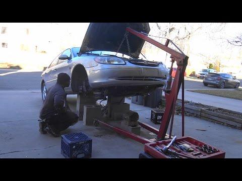 03 Taurus engine swap time lapse