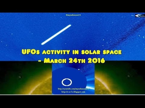 UFOs activity in solar space - March 24th 2016