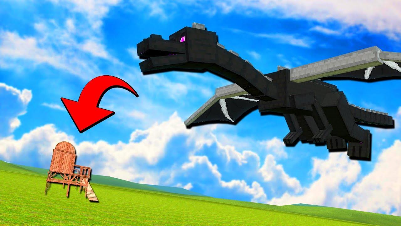 Ender Dragon Vs บ้าน