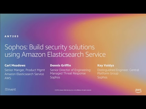AWS re:Invent 2019: Sophos: Build security solutions using Amazon Elasticsearch Service (ANT203)