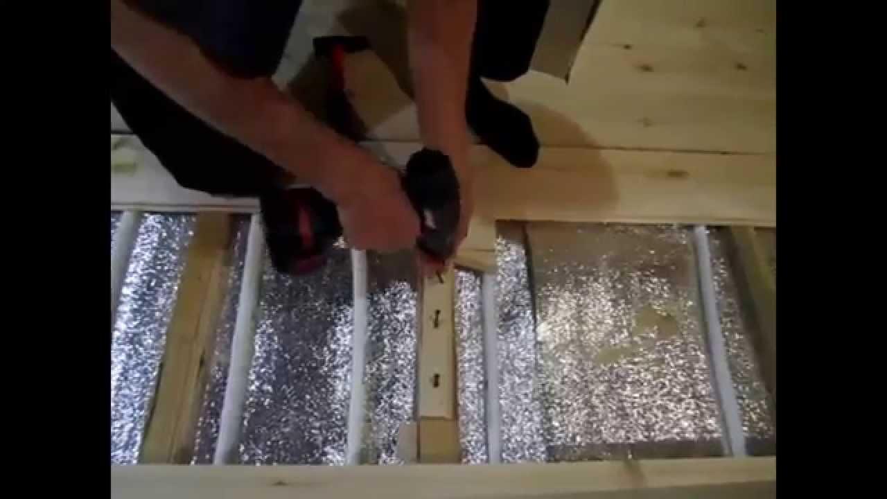 Как построить дом.Теплый пол при строительстве дома.