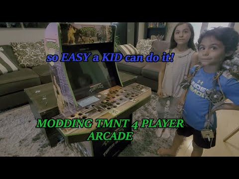 Modding a Ninja Turtles Arcade - So Easy Kids A Kid Can Do It! from DOUBLE TROUBLE
