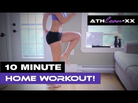 10 Minute HOME Workout for Women – NO Equipment Wanted!