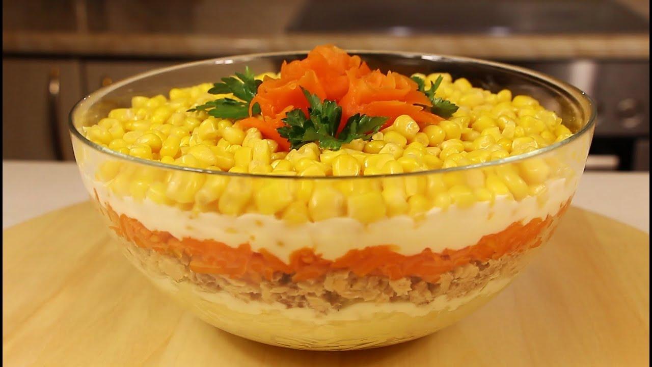 Вкусный ПОСТНЫЙ САЛАТ НА НОВОГОДНИЙ СТОЛ/ Постный салат