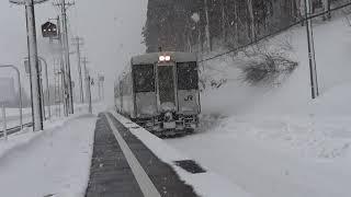 北上線 和賀仙人駅 入線 2019-02-17